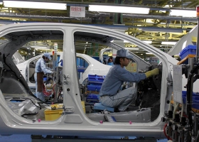 Toyota factory in Ohira, near Sendai, Miyagi Prefecture, Japan