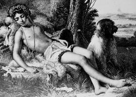 The Sleeping Shepherd, Aubry-Lecomte (1787-1858) after a painting by Raymond Monvoisin (Courtesy: Bibliothèque nationale de France)
