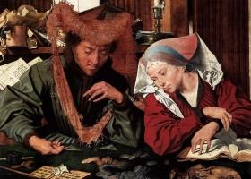 The Money Changer and His Wife, Marinus Claesz van Reymerswaele, 1539 (Courtesy: Prado Museum, Madrid)