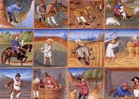Agricultural calendar, Le Maître du Boccace de Genève, c.1448-1475 (Courtesy: Musée Condé)