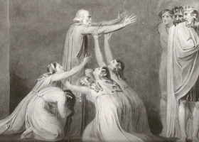 Tiriel Denouncing his Sons and Daughters, William Blake, 1789 (Source: Detlef W. Dorrbecker, William Blake: The Illuminated Books)