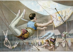 Five male trapeze artists, 1890, US Library of Congress (Source: Wikimedia)