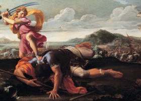 David and Goliath, Guillaume Courtois, c.1650 (Courtesy: Capitoline Museums, Rome)