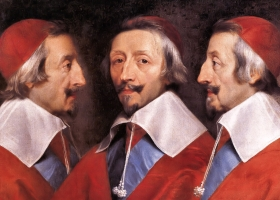 Triple Portrait of Cardinal de Richelieu, Philippe de Champaigne, 1642 (Courtesy: National Gallery, London)