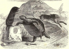 Illustration from the 1855 edition of La Fontaine's Fables