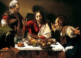 Supper at Emmaus, Caravaggio, 1600, National Gallery London