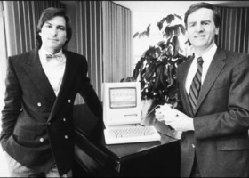 Steve Jobs, Steve Wozniak and the Apple 1 PC