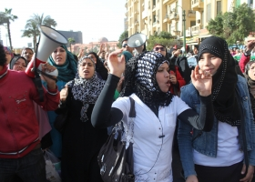 Women's rights protest in Egypt, 2011, Al Jazeera English (Source: Wikimedia)