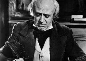 Alistair Sim as Scrooge, A Christmas Carol, 1951, United Artists