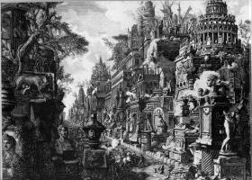 Idea of the Ancient Via Appia and Ardeatina, Giovanni Battista Piranesi 1720-1778 (Source: Wikipaintings)